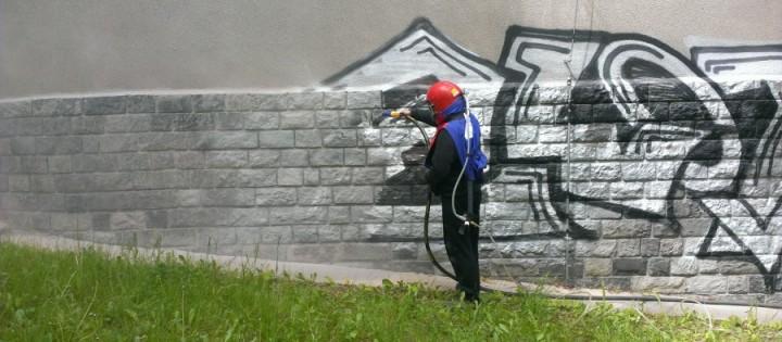 100% odstranění graffity pískováním Praha